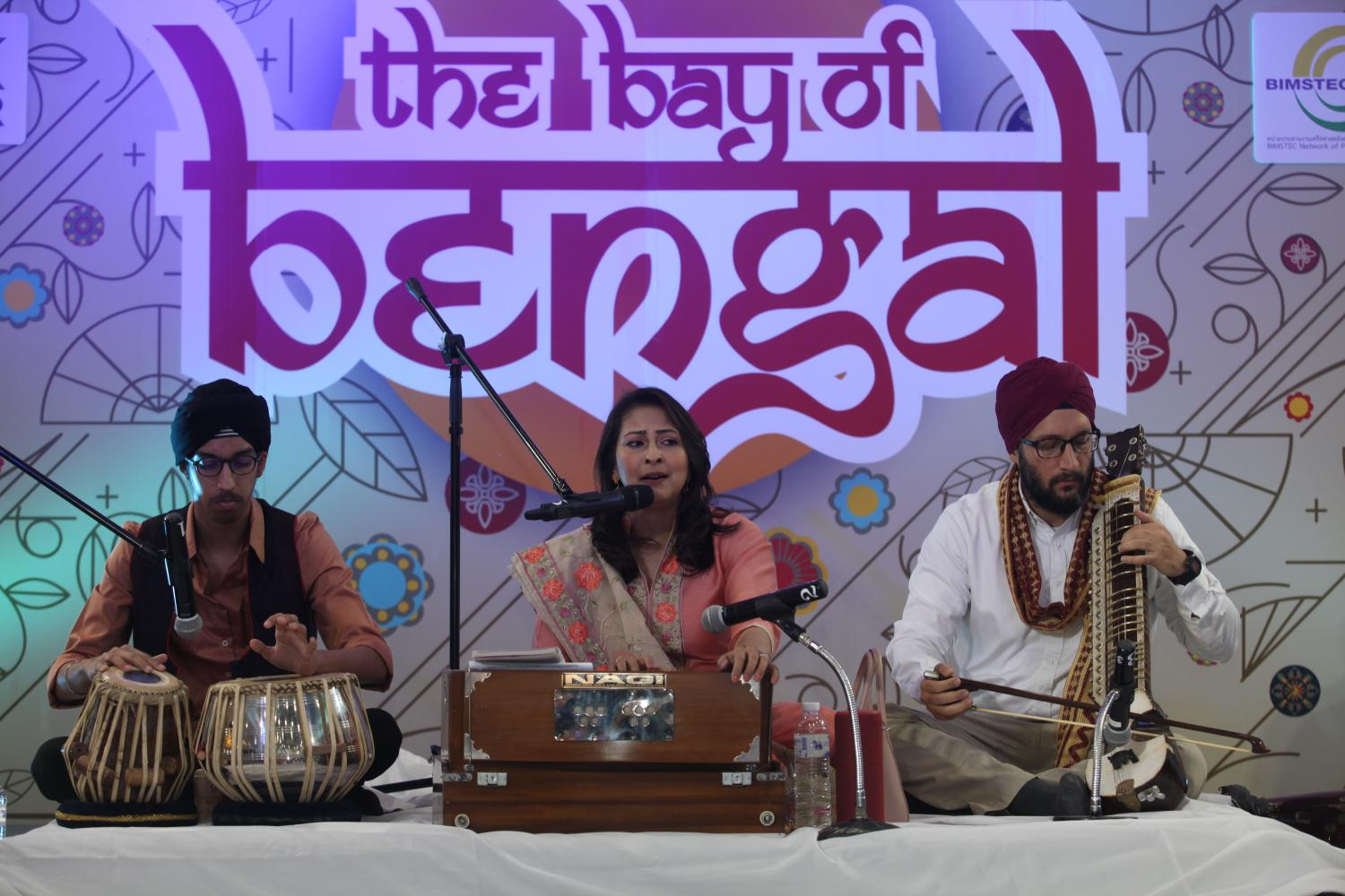 Traditional music is performed at an event to promote the relationship among members of the Bay of Bengal Initiative for Multi-Sectoral Technical and Economic Cooperation at the MBK Centre last week.Nutthawat Wicheanbut