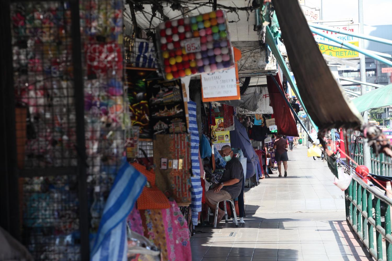 Pratunam market in Bangkok is quiet amid the latest outbreak of Covid-19.Apichart Jinakul