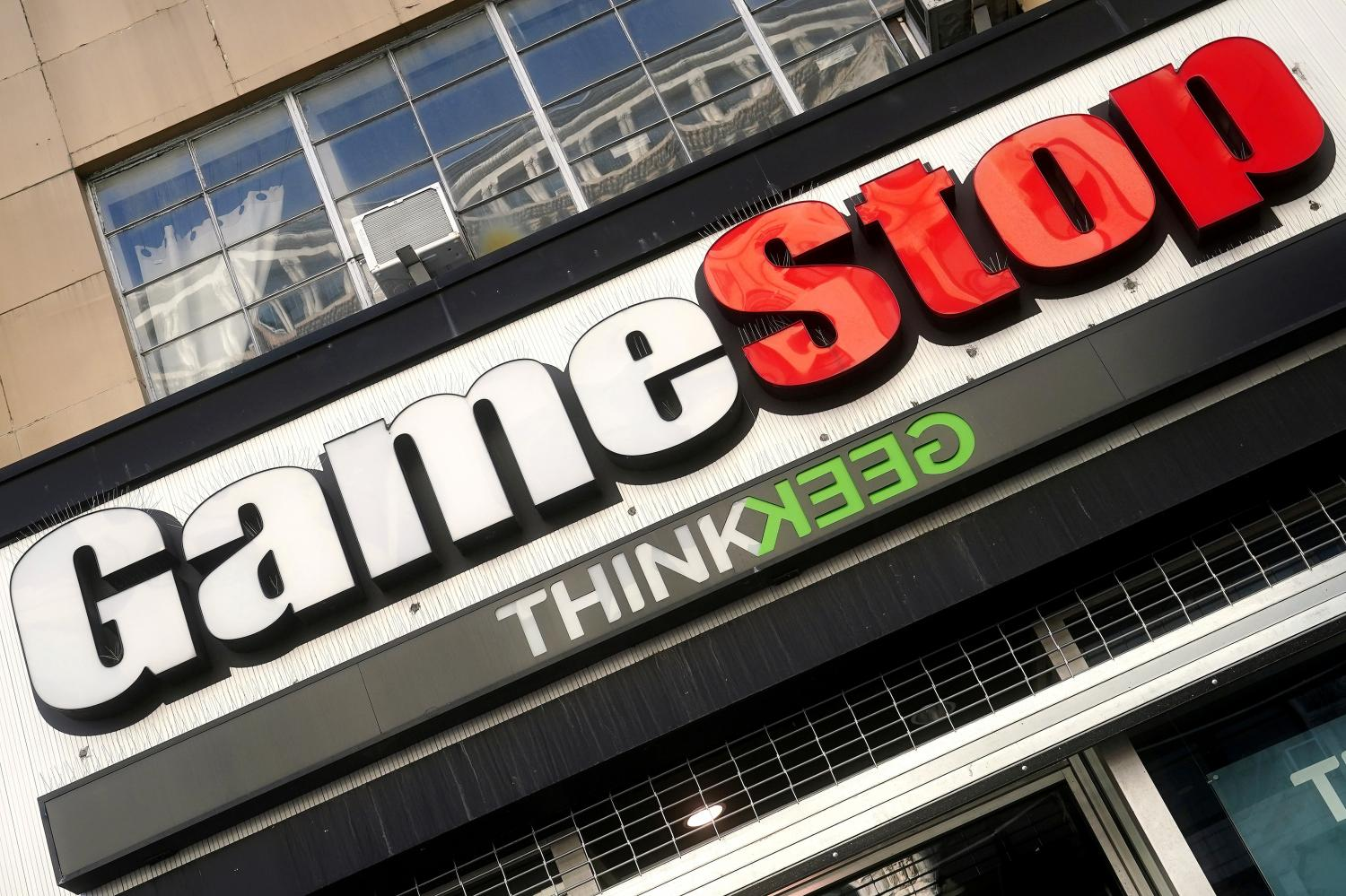 A GameStop store is pictured in the Manhattan borough of New York City, New York, US.REUTERS