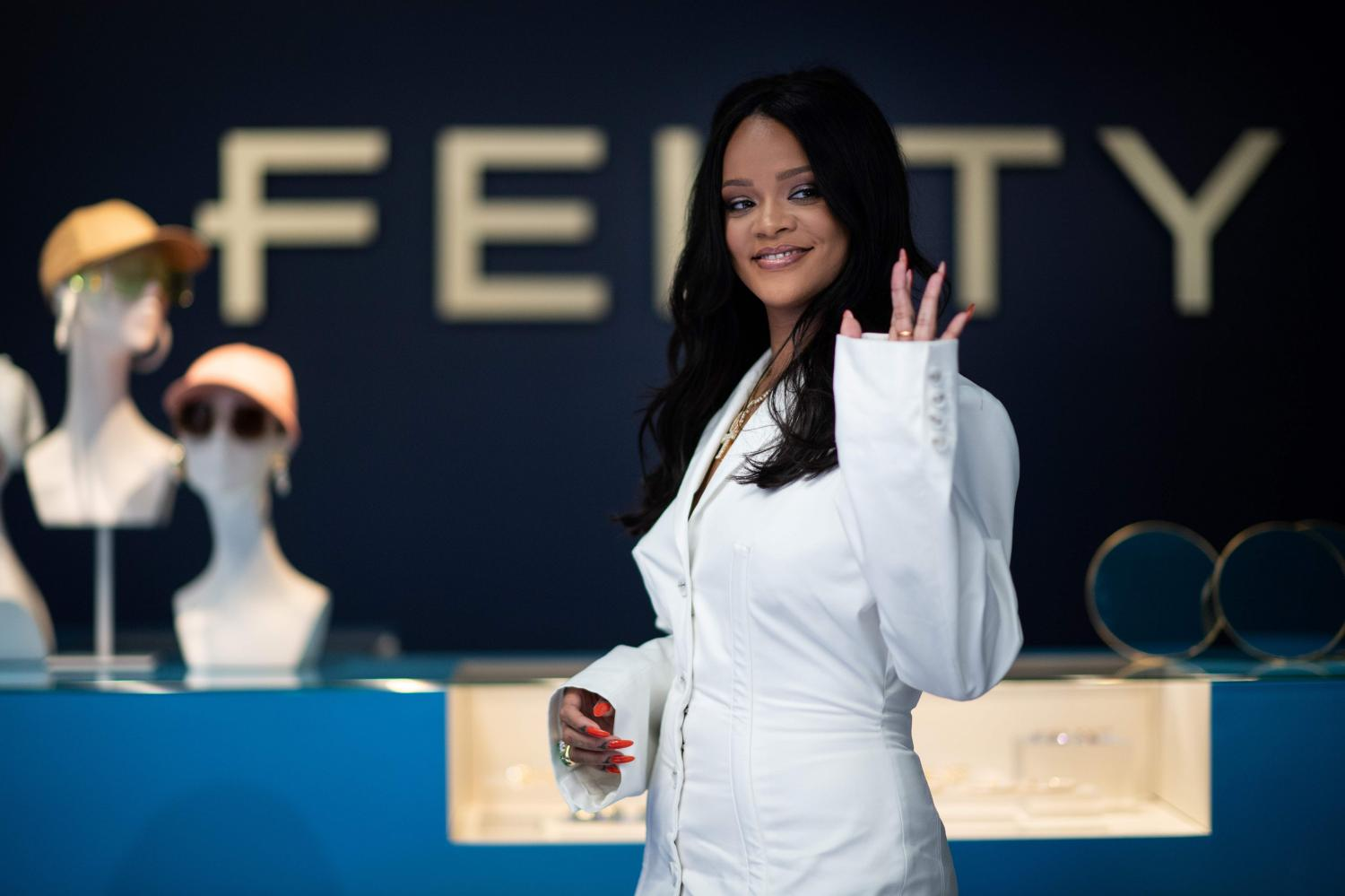 Fenty fashion had a smaller retail audience, from e-commerce and pop-up stores, than Fenty Beauty.AFP