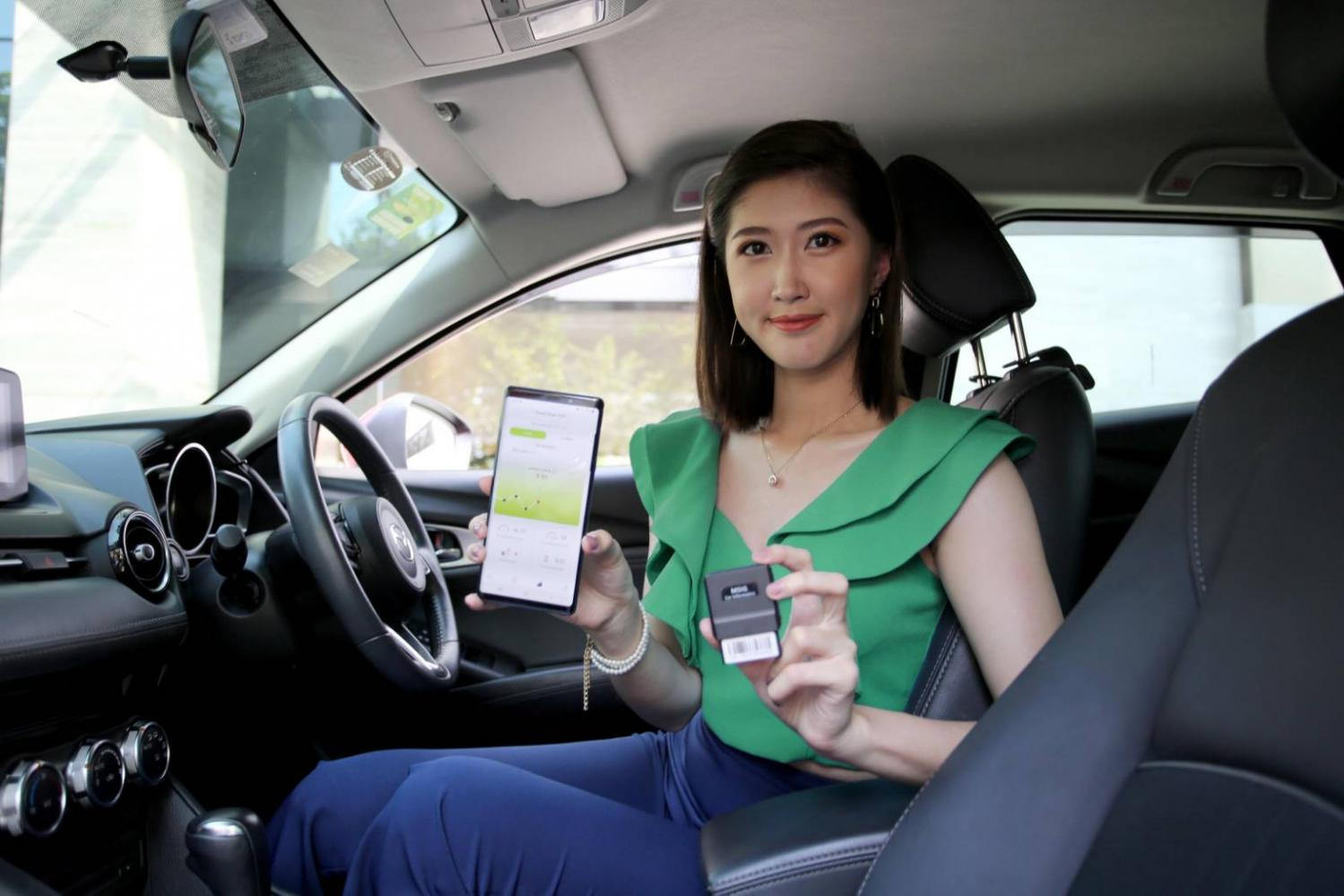 AIS and MSIG Insurance launch innovative insuretech, which will gauge customers' driving behaviour by using MSIG's car informatics equipment.