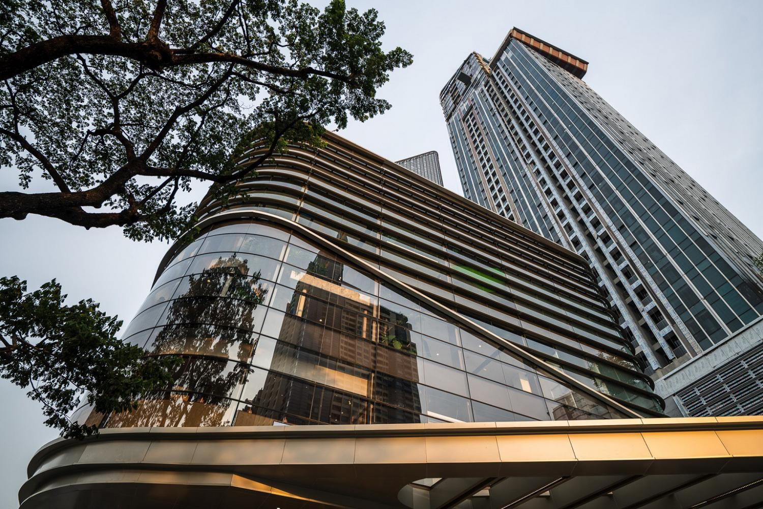 Singha Estate's commercial property businesses include 140,000 square metres of commercial office and retail space contributing 15% of total revenue in 2020.