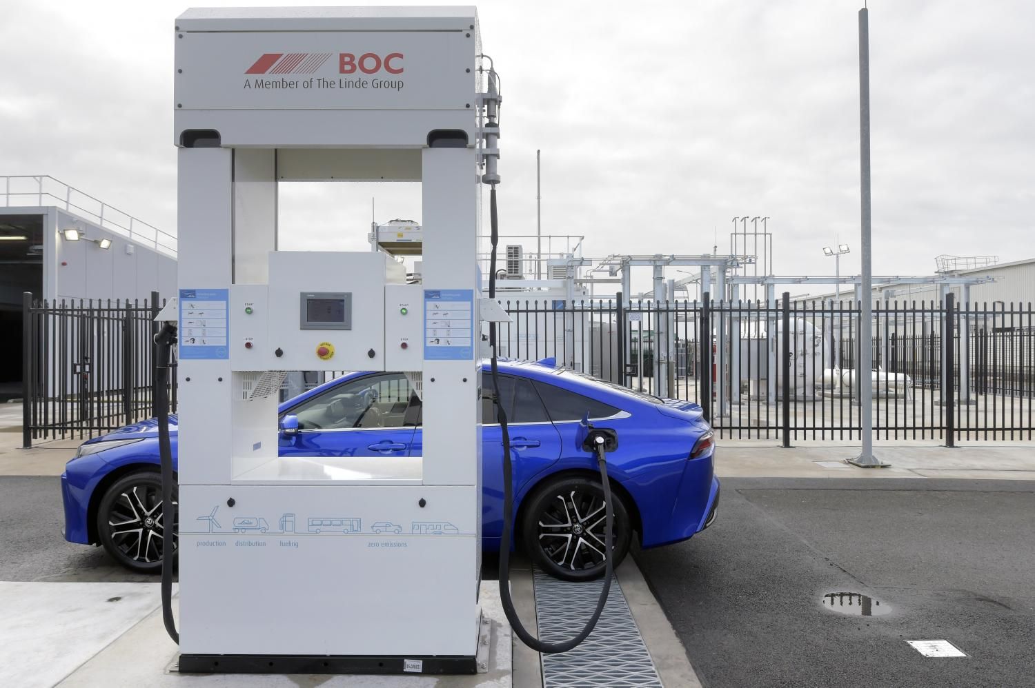 A view of the hydrogen refuelling site that Toyota Motor Corp opened at its former car plant in Victoria on Monday.(Bloomberg photo)