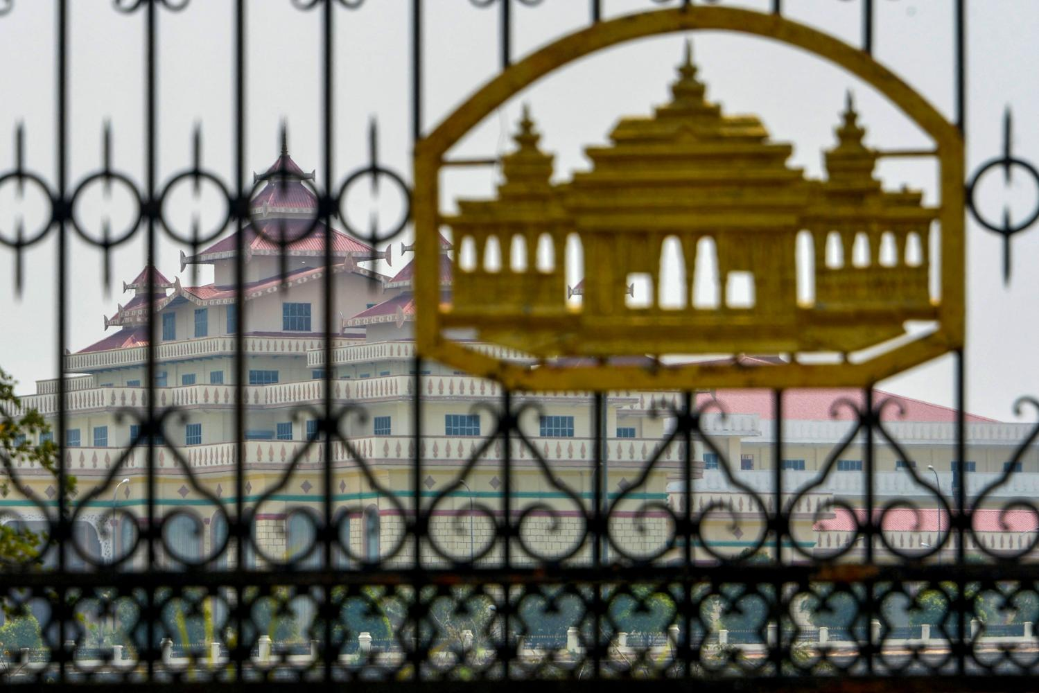 Myanmar's parliament building is seen in Nay Pyi Taw on March 14 as demonstrations by protesters against the military coup continue across the country. Myanmar's elected parliamentarians are set to declare a parallel civilian government in a challenge to the coup leaders. (Photo: AFP)