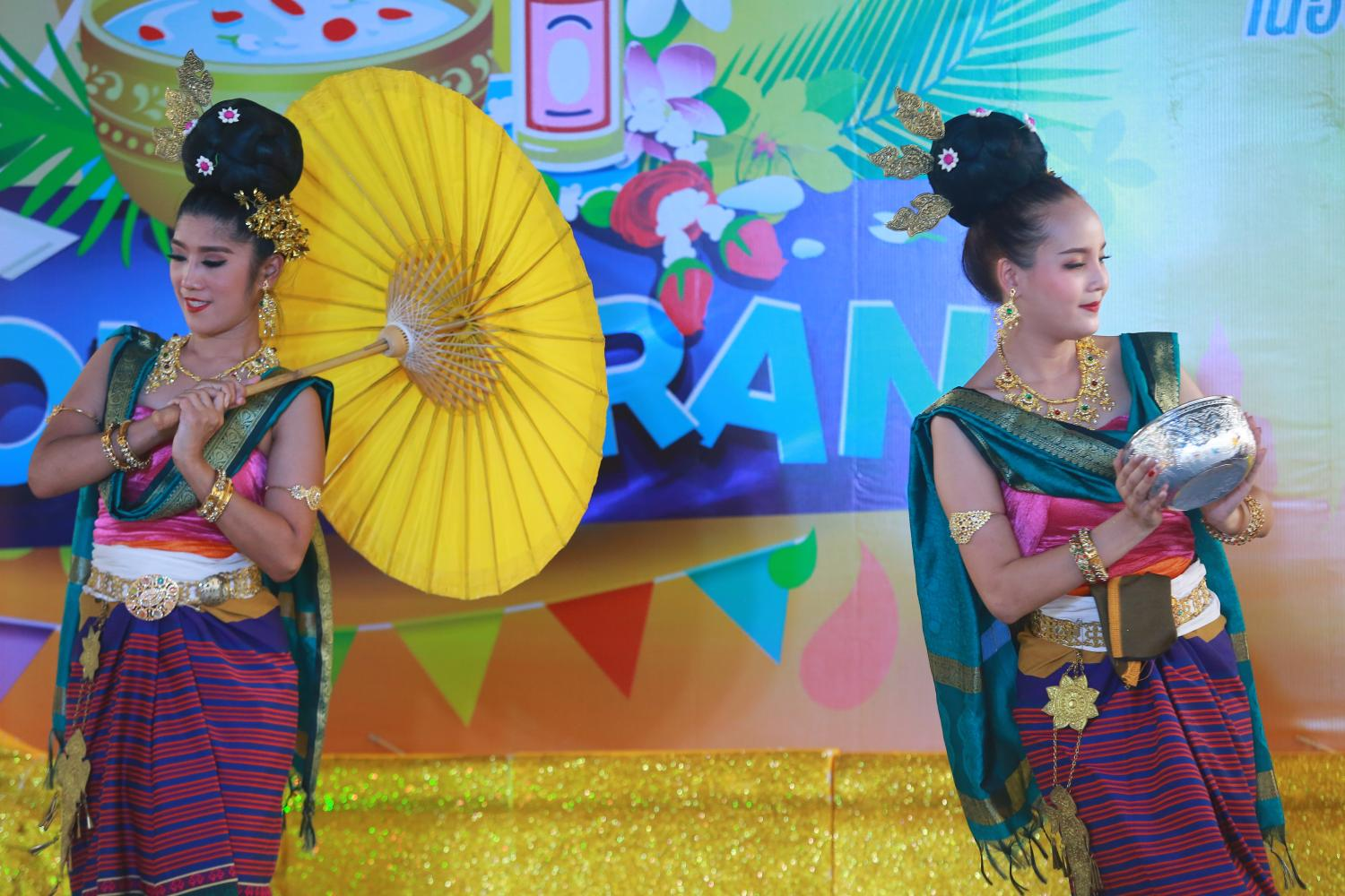 Bangkok Metropolitan Administration held a water pouring ceremony and dances to honour the elderly during Songkran with National Elderly Day and Thai Family Day, taking place on April 13 and 14.(Photo by Somchai Poomlard)
