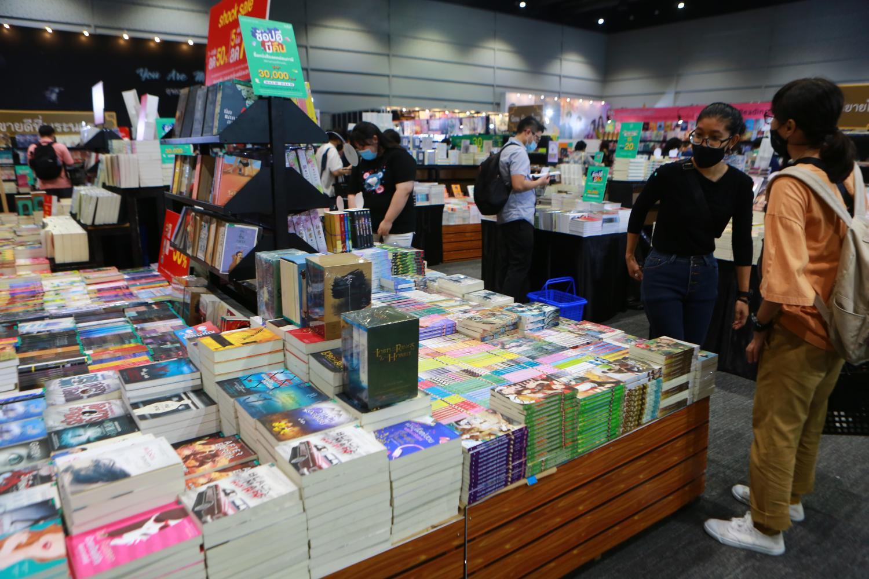 Books on display at the International Novel Festival 2020 in Bangkok. The 49th National Book Fair & Bangkok International Book Fair 2021 is set to take place on April 17-25 at Bitec. (Photo by Somchai Poomlard)