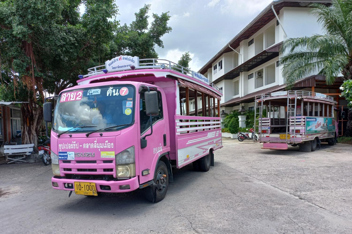 Phuket's pink buses make way for EV