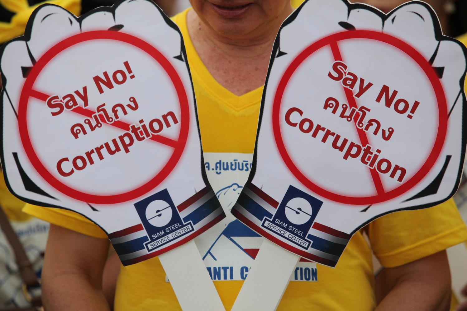 People join in anti-corruption activities at Sanam Luang in the capital in this file photo dated September 2016.Wichan Charoenkiatpakul