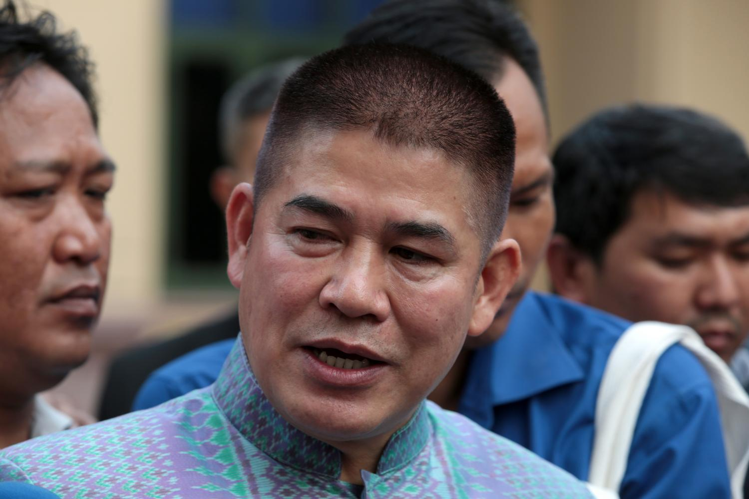 Deputy Agriculture and Cooperatives Minister Thamanat Prompow claims he is the victim, not the aggressor.