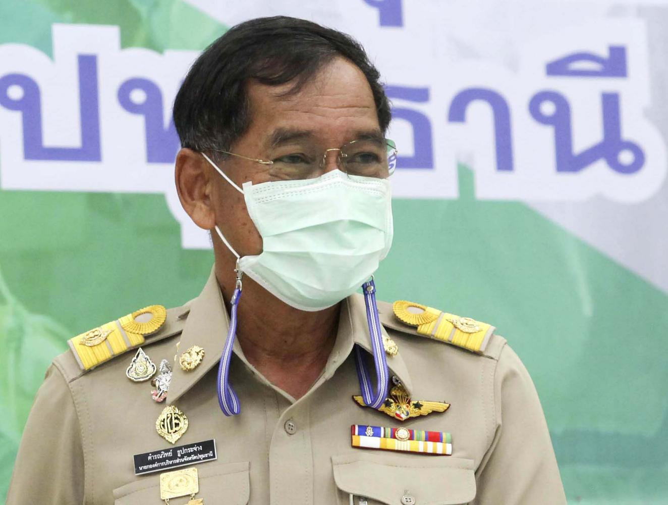 Pol Lt Gen Kamronwit Toopkrajang, chairman of Pathum Thani Provincial Administrative Organisation, is putting his negotiation skills to the test by helping secure the Sinopharm vaccine for other PAOs.(Photo by Pattarapong Chatpattarasill)