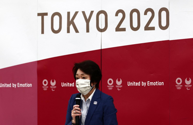 Tokyo 2020 president Seiko Hashimoto speaks during a meeting yesterday.(Photo: afp)