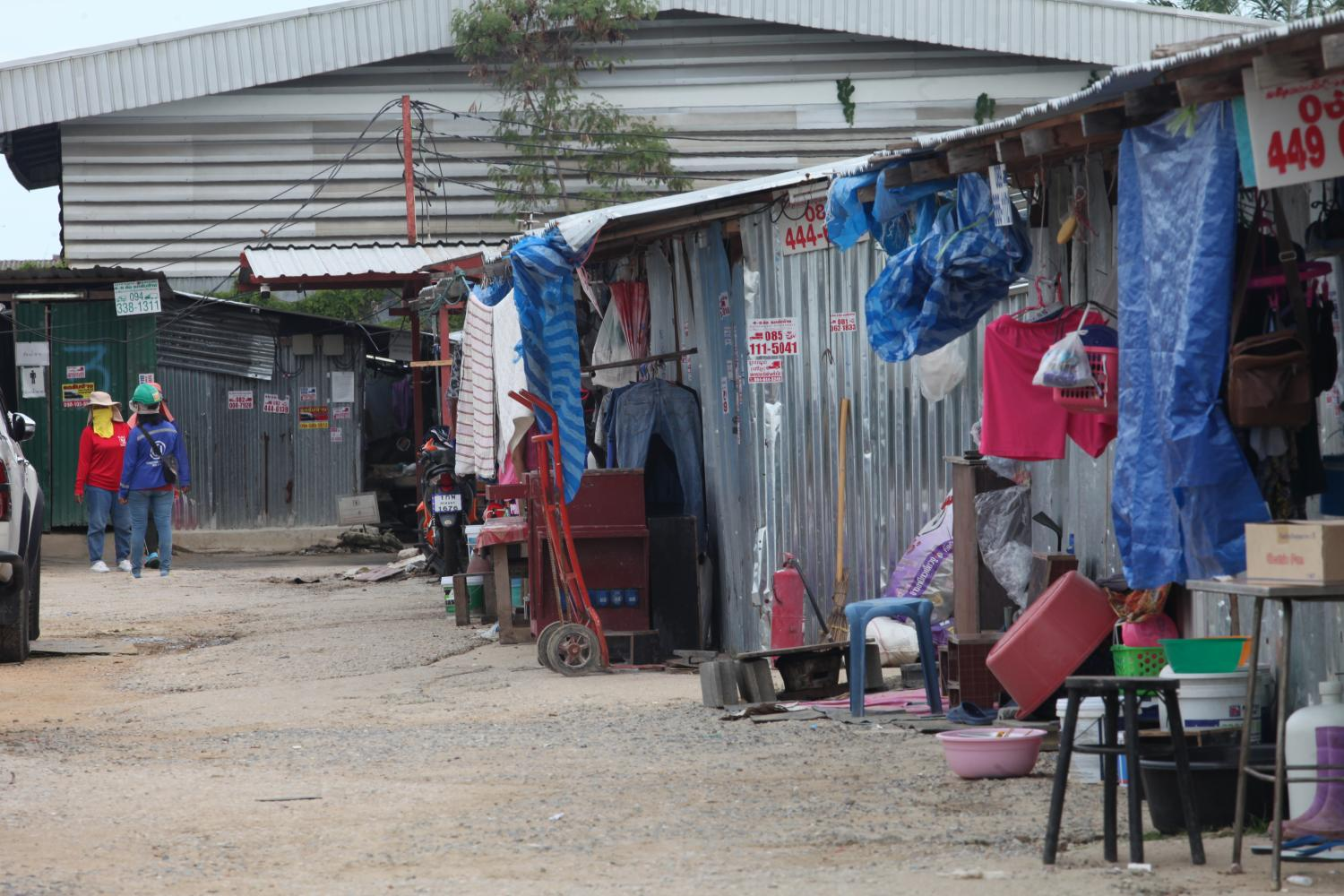 Officials recently inspected a construction workers' camp on the outskirts of Bangkok where clusters of Covid-19 infections among migrant workers have been reported.