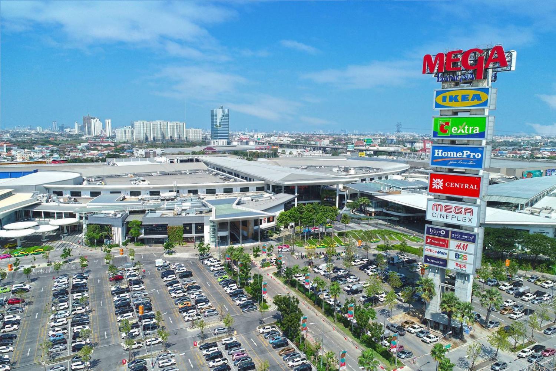 Megabangna mall is located on Bang Na-Trat Road.