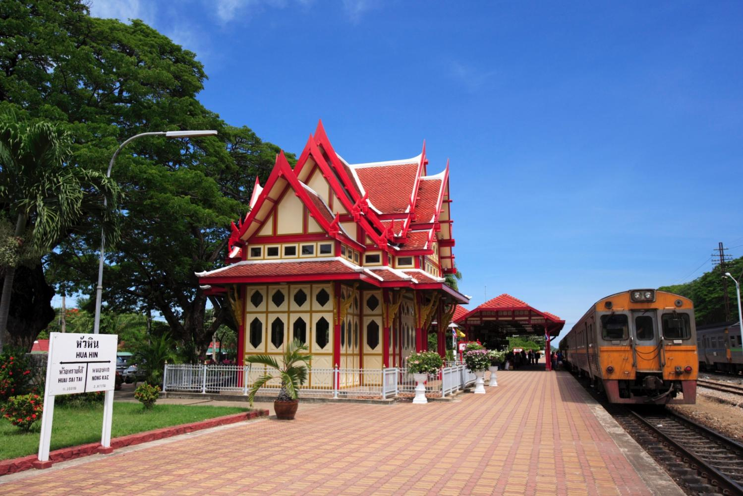 Hua Hin Railway Station in Prachuap Khiri Khan. The area hopes to welcome tourists from Oct 1.