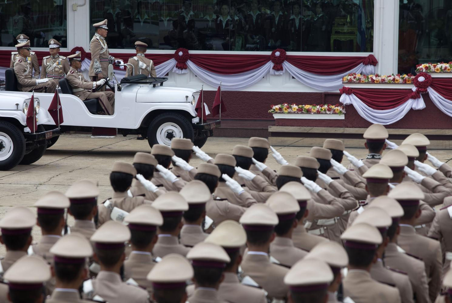 A parade marks National Police Day on Oct 13 each year. The Royal Thai Police has been plagued by scandals in recent years.(Photo: Pawat Laupaisarntaksin)
