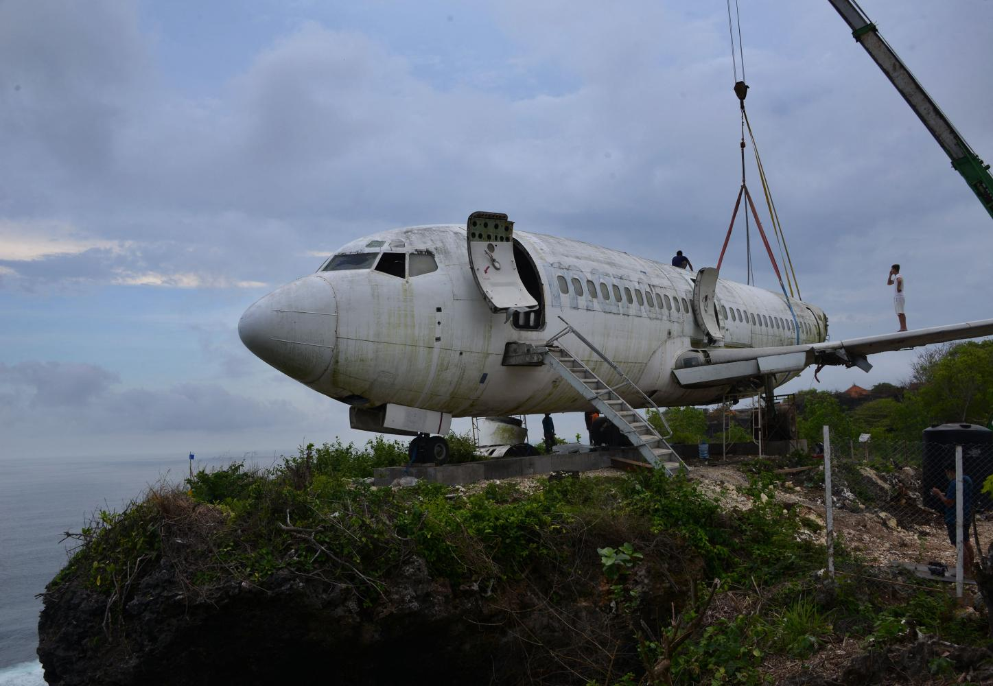 Retired jet on cliff new attraction in Bali