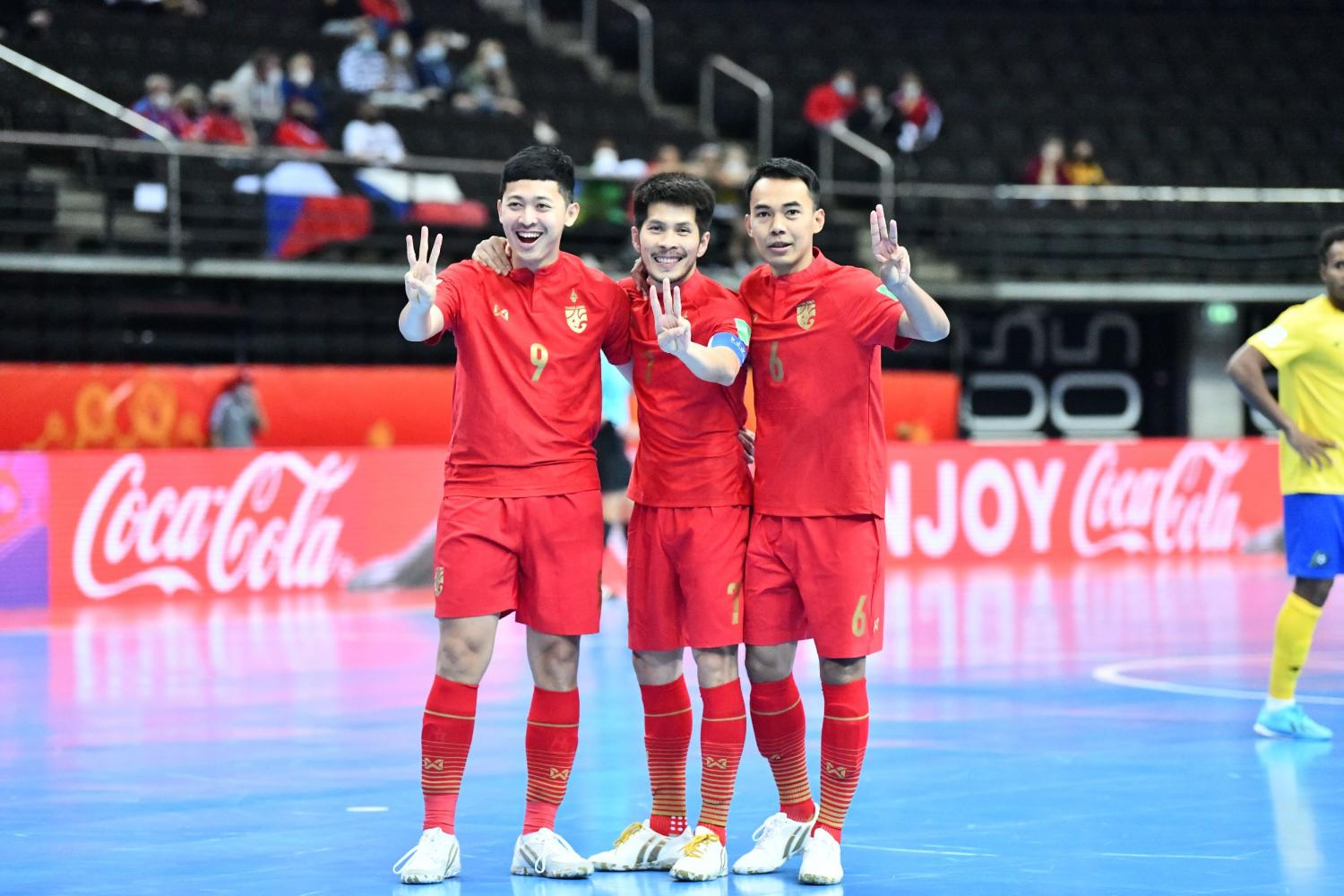 Suphawut hat-trick takes Thailand to last 16 round