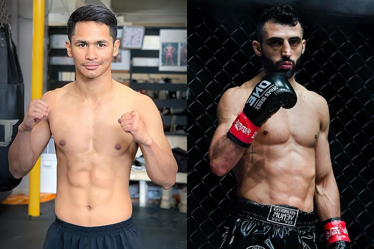 Superbon, left, will meet Giorgio Petrosyan in Singapore tomorrow.