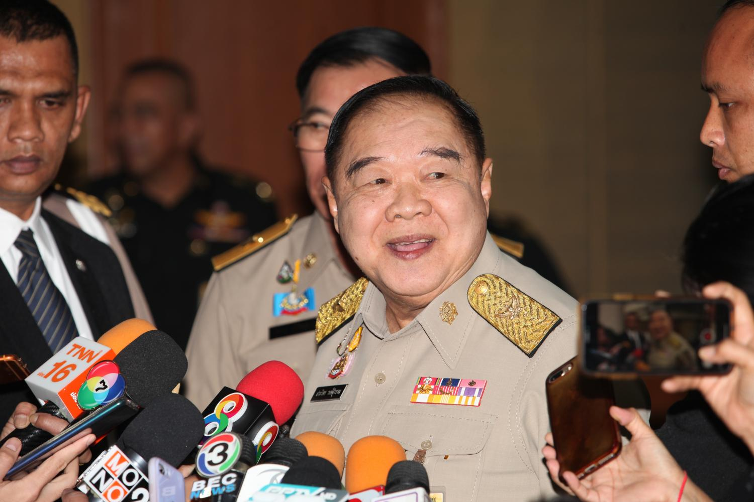 Prawit says  no role in  PPRP poll